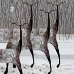 Deers in the Snow-Mirko Pocuca
